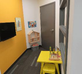 children friendly area in dental clinic